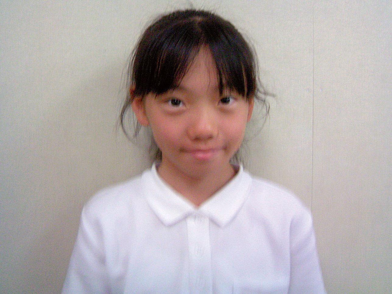 大野東小 6年 青柳佑紀奈さん